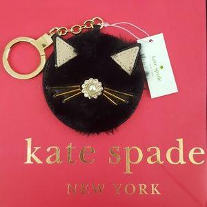 NWT Kate Spade Fuzzy Kitty FOB